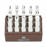 エンドレススタンプ 耐油性数字セット(明朝体) 15本セット 1号