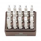 エンドレススタンプ 耐油性数字セット(明朝体) 15本セット 3号
