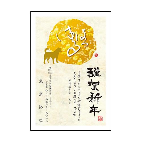 年賀状  プレミアムカラーあいさつ文固定 10枚〜